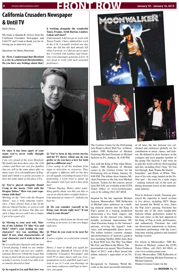 HH California Crusader Newspaper Jan 2013