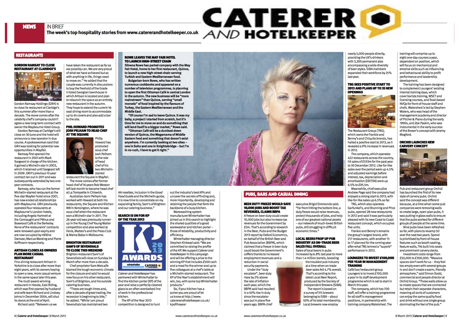 caterer articles