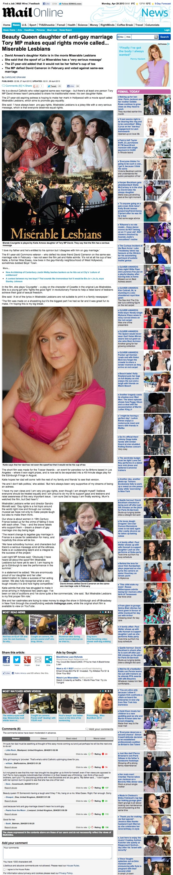 TT- Daily Mail April 13