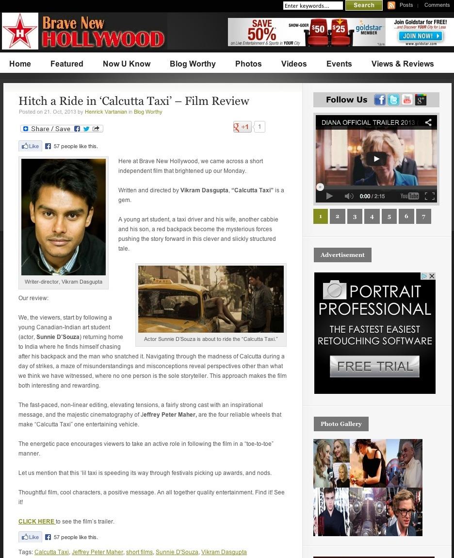Hitch a Ride in 'Calcutta Taxi' - Film Review   BraveNewHollywood.com