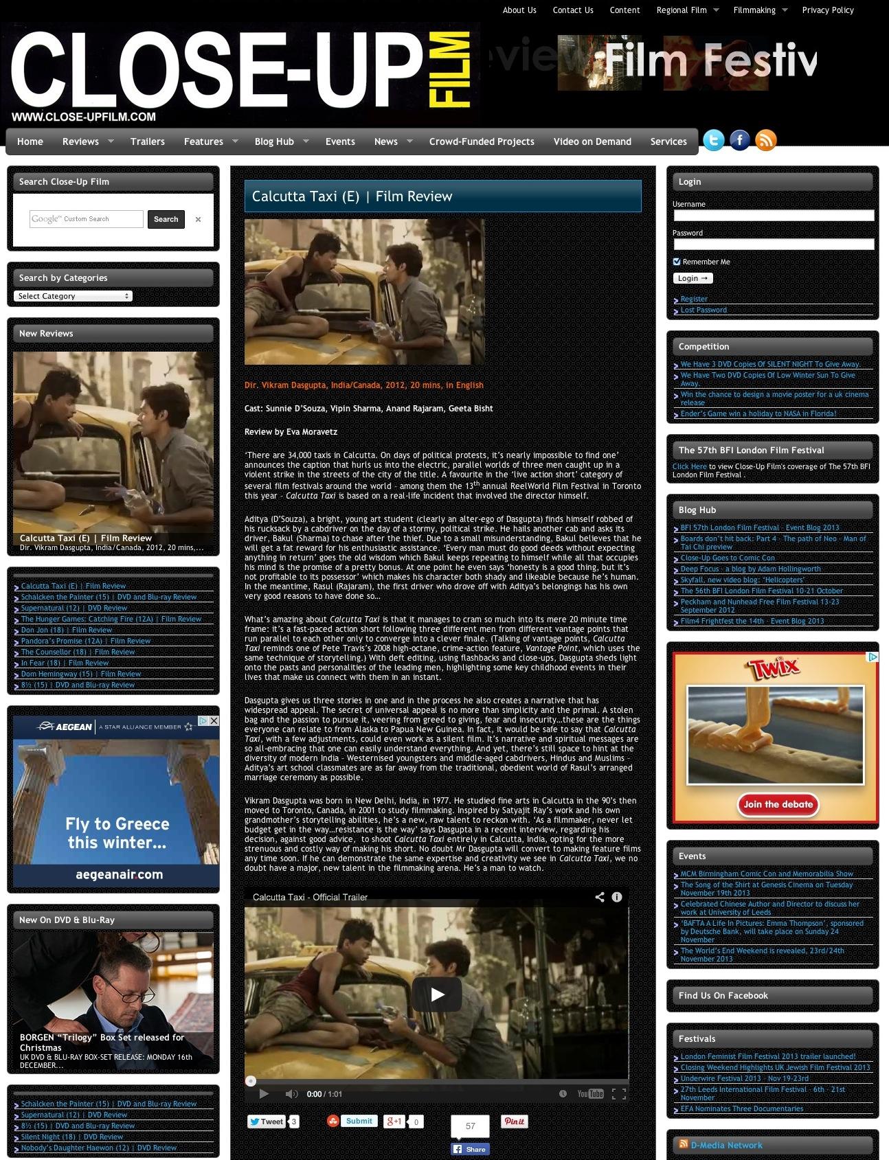 Close-Up FIlm - Movies, Movie Reviews, Movie Trailers, Movie News,