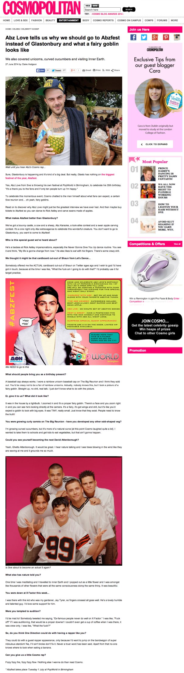 Abz-Cosmo Interview June 14