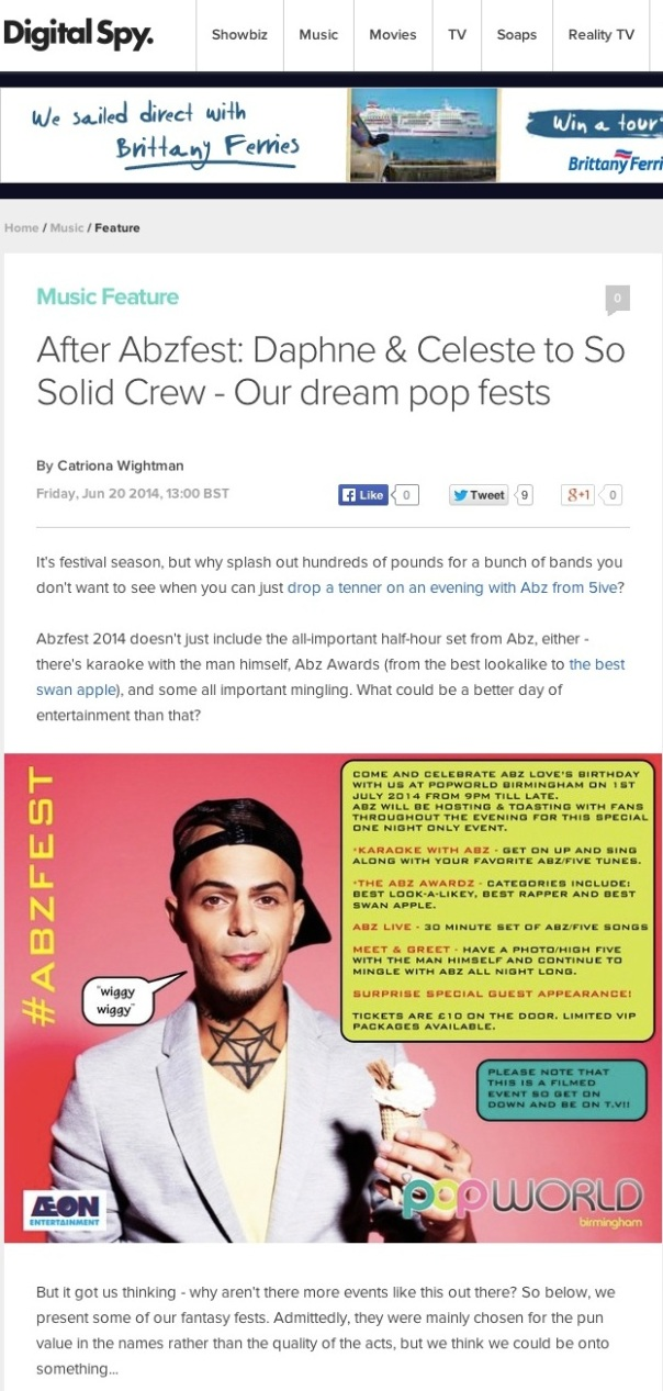 After Abzfest: Daphne & Celeste to So Solid Crew - Our dream pop fests - Music Feature - Digital Spy