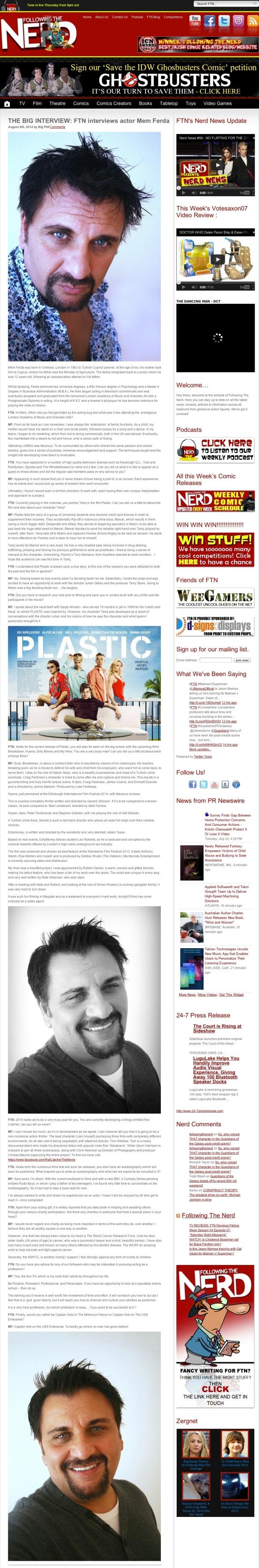 THE BIG INTERVIEW: FTN interviews actor Mem Ferda