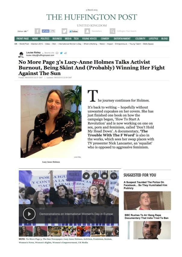 TTWTFW Huffington Post Clip March 15